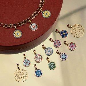 全场买3赠1Mvintage 马耳他小众饰品 超美砖花项链 绝不撞款的复古设计