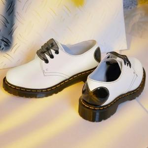 5折起!封面限定款€115Dr.Martens官网 1461马丁靴夏促专场 爱心尾黑丝带参与