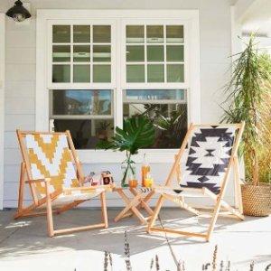 7折收高颜值沙滩躺椅Society6 超美户外家具、装饰促销