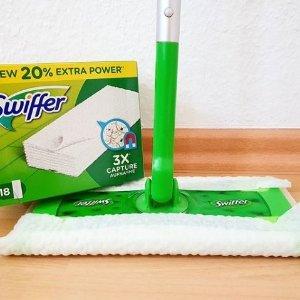 低至8.5折 £0.43一片Swiffer 地板清洁湿巾 吸尘除毛发 轻松大扫除