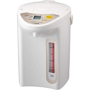 $127.15($169.99)Tiger 虎牌 真空保温电热水壶 3L容量 微电脑控制 安全方便