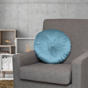 Better Homes & Gardens Round Tufted Velvet Pillow, 18