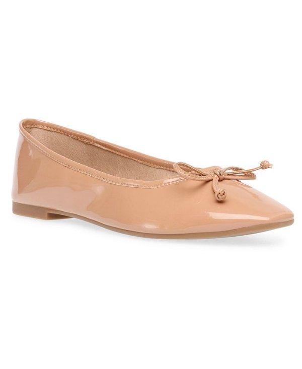 芭蕾蝴蝶结平底鞋