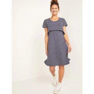 Old NavyMaternity Double-Layer Linen-Blend Jersey Nursing Dress
