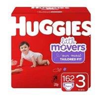 Little Movers 3 (16-28 lb.)号尿不湿, 162 片