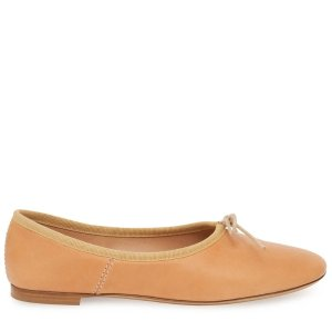 Mansur Gavriel奶咖色平底鞋