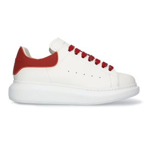 Alexander McQueen满£500享75折红尾小白鞋