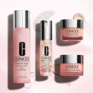 最高送3重价值$190好礼Clinique 美妆护肤热卖 收新款塑形面霜,水磁场