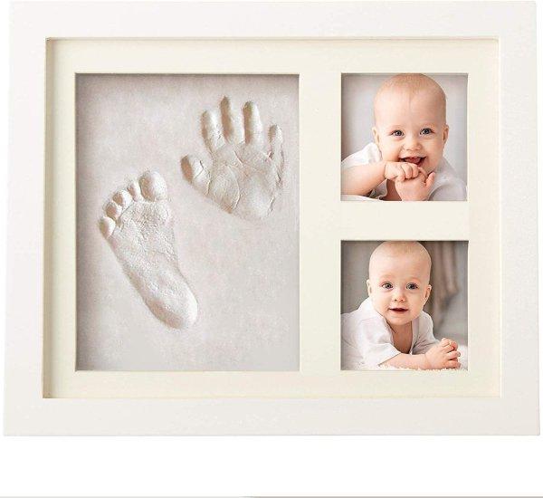 宝宝手模脚模纪念相框