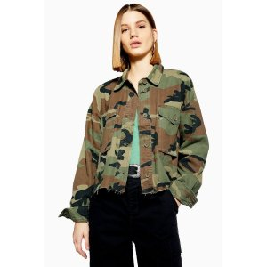 TopshopTALL Camouflage Jacket