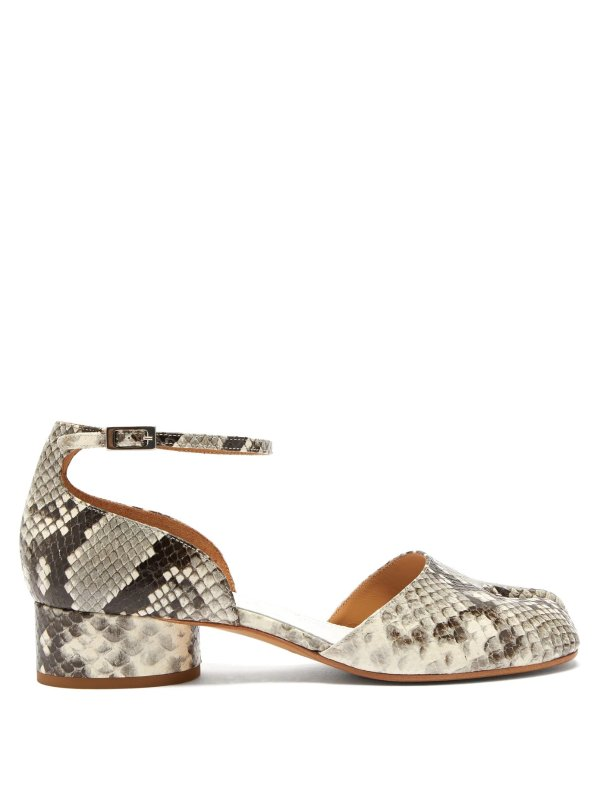 蛇皮纹分趾鞋
