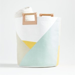 Abstract Round Floor Bin   Crate and Barrel