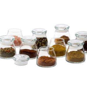 $24.99Libbey Vibe Mini Glass Spice Jars with Lids, Set of 12