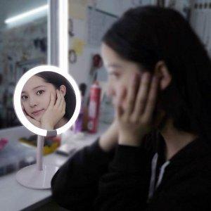 $15.99(原价$66.47)AMIRO 化妆镜 可充电 手术级LED自然光 美妆达人必备