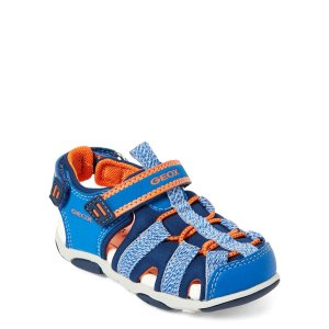 Geox(Infant Boys) Blue & Orange Agasim Sandals
