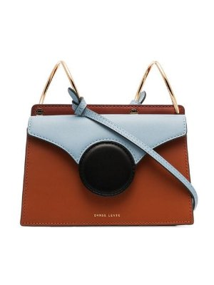 Danse Lente brown and blue Phoebe mini leather crossbody bag $375 - Buy Online SS19 - Quick Shipping, Price