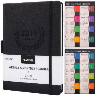 $9.8Artfan Planner 2019 with Pen Holder - Academic Weekly, Monthly and Yearly Planner. Thick Paper to Achieve Your Goals & Improve Productivity, 5.75