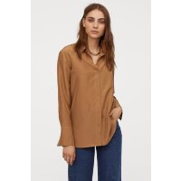 H&M 丝绸衬衫 焦糖色