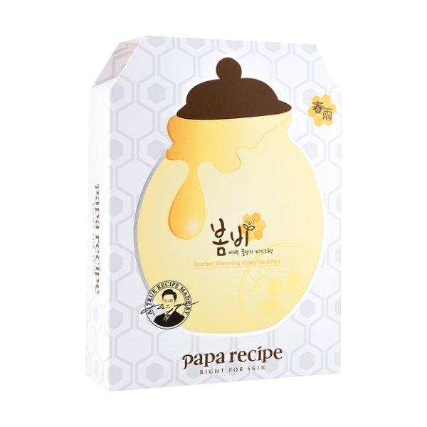 韩国PAPA RECIPE 春雨 蜂蜜美白保湿营养面膜 10片入 - 亚米网