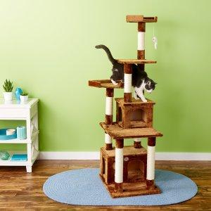 $55.26GoPetClub 67英寸猫树猫爬架