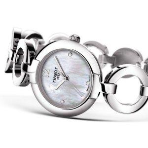 额外减$50 $129.99+免税Tissot 珍珠母贝镶钻时装女表