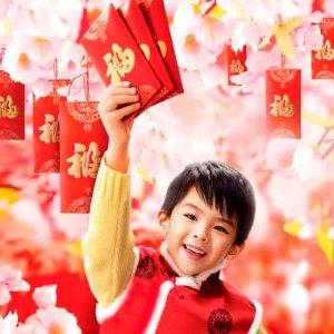 欢欢喜喜过大年喽穿唐装、收红包、吃水饺——北美的孩子也懂春节