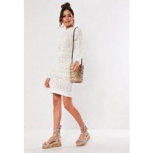Missguided花纹针织裙