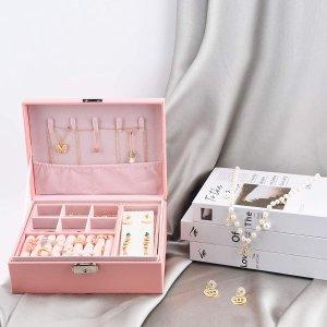 DEZZIE Jewelry Box, 2 Layer, Pink