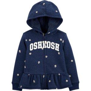 OshkoshPeplum Hem Logo 摇粒绒连帽外套 小童