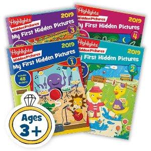 $13.90 (原价$27.80) 难得包邮2019版 Highlights Hidden Pictures 考眼力图书4册 畅销多年