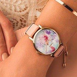 $41Timex Women's Crystal Bloom Swarovski Fabric Dial 38mm Watch