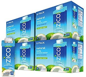 $20.52 Zico Natural Coconut Water (Pack of 24), 8.45 Fl Oz