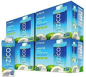 $20.52 夏日消暑好饮品ZICO Premium椰子水 8.45 fl oz 24瓶