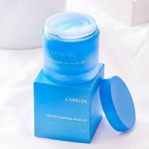 全场8折Laneige兰芝 韩系护肤热促 收睡眠面膜、唇膜