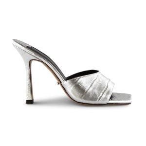 Tony BiancoBosco Silver 高跟拖鞋