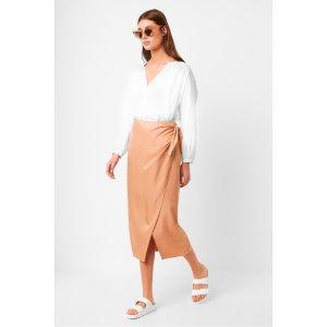 French ConnectionGabina Drape Tie Side Skirt