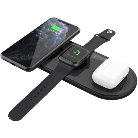 Fast Wireless Charger, UUTO 3 in 1 Qi-Certified Wireless Charging Pad