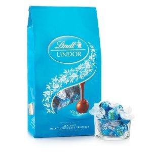 满额立享7.5折LINDOR 海盐口味黑松露巧克力 75颗 31.7 oz