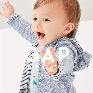 2.5折起+额外4.8折 棉服$7限今天:Gap 童装大促 小帽$2 米妮毛衣$11 满$25免邮