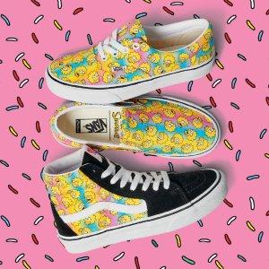 6.5折起!断码快!Vans x Simpsons 辛普森联名系列大促 撞色设计 可爱减龄