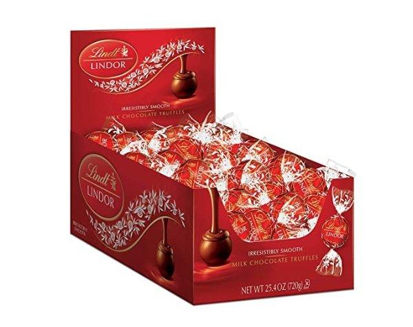 Lindt Lindor 牛奶巧克力 25.4 oz, 60粒