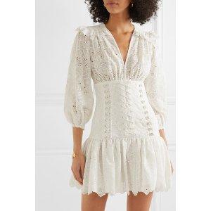 Zimmermann lace-up mini连衣裙
