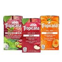Tropicana 100% 果汁3口味混合装 (橙、萍果及草莓猕猴桃) 4.23oz 44盒