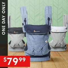 Today Only: $79.99Ergobaby Four-Position 360 Carrier Flash Sale @ Zulily