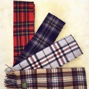 网站折扣再7.8折 苏格兰格纹风情10周年独家:Glencroft 苏格兰顶级纯羊绒羊毛围巾 限时特卖
