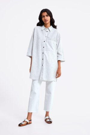 OVERSIZED STRIPED SHIRT - View All-SHIRTS | BLOUSES-WOMAN | ZARA United States