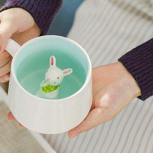 luckyse 超可爱立体小兔子陶瓷马克杯