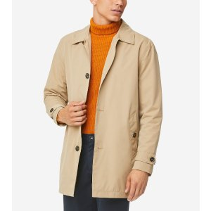 Cole HaanStand Collar Rain Jacket