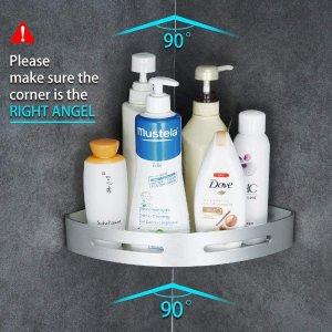 7.5折起 $18收三角置物架Gricol 浴室置物架热卖 无需打孔 节省空间的浴室收纳