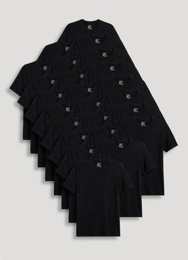 黑色圆领T恤24件套